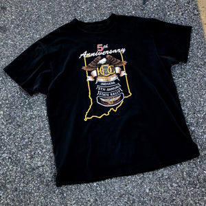 1992 Harley Owners Group Indiana 5th Anniversary Shirt