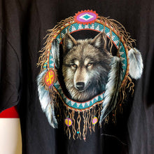 1994 Wolf Dream Catcher 3D Emblem Made in USA Shirt