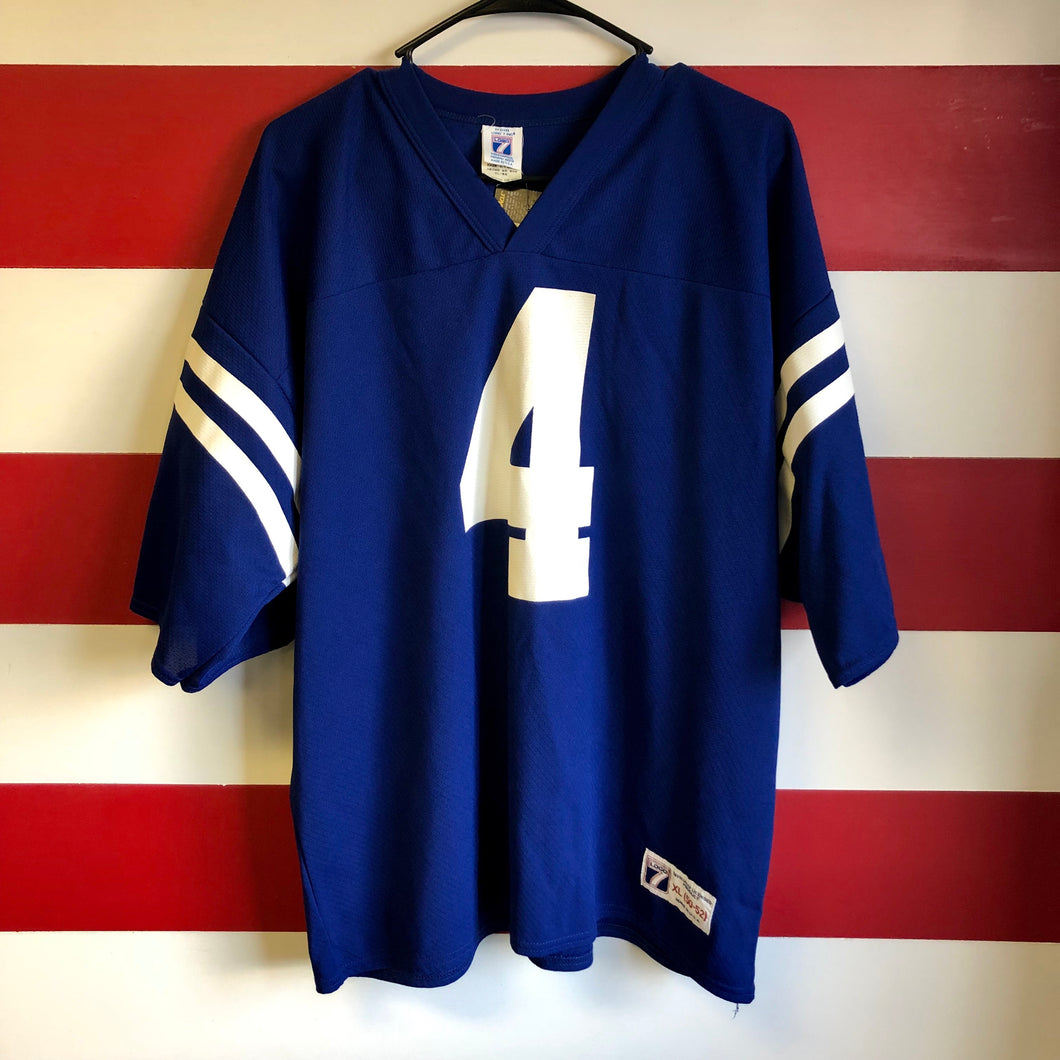 90s Indianapolis Colts Jim Harbaugh Logo 7 Jersey