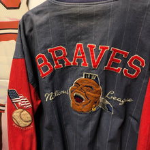 90s Atlanta Braves Mirage Brand Cooperstown Collection Reversible Jacket