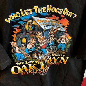 2002 Harley Davidson 'Who Let The Hogs Out' Shirt