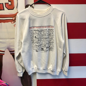 1984 Art Institute of Chicago Artist Signatures Crewneck Sweatshirt