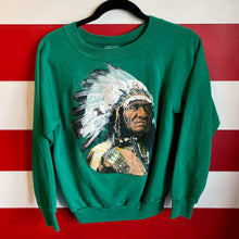 80s Native American Chief Puff Print Sweatshirt
