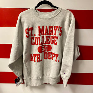 90s St Mary's College Athletic Dept Champion Reverse Weave Sweatshirt