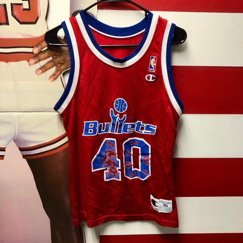 90s Calvert Cheaney Washington Bullets Champion Jersey
