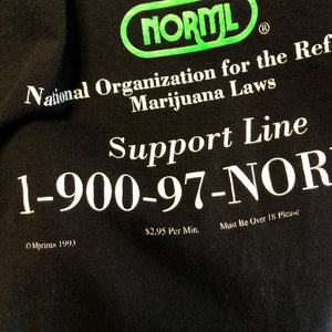 90s National Organization for the Reform of Marijuana Laws 'Juana Help?' Shirt