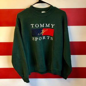 90s Tommy H Sports Style Sweatshirt