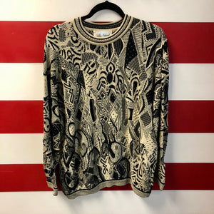 90s Coogi Naturals Sun Design Knit Sweater