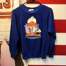 1988 Jim Benton 'Brought To You Today Through The Miracle of Caffeine' Rise & Shine Duck Bassett Walker Sweatshirt