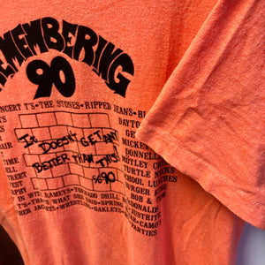 1990 'Remembering 90' Senior Class of 1990 Pop Culture Shirt