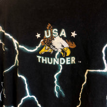 90s American USA Thunder Dragon All Over Print Shirt
