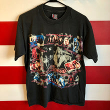 1993 Poison Live Native Tongue World Tour 'When The Curtain Drops' Giant Brand Shirt