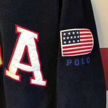 90s Polo Sport Ralph Lauren USA Flag Patch 1/4 Zip Fleece