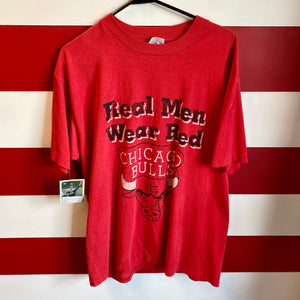 90s Chicago Bulls 'Real Men Wear Red' Shirt
