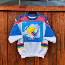 80s Adidas Regatta Stitched Short Sleeve Crewneck Sweatshirt
