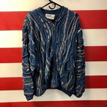 90s Coogi Blues Cable Knit Jacket