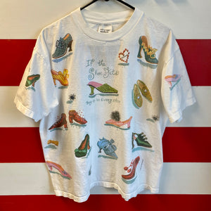 1998 If The Shoe Fits All Over Print Shirt
