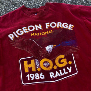 1986 Pigeon Forge National Harley Owners Group Rally 'Mike's Delbarton WV' Shirt
