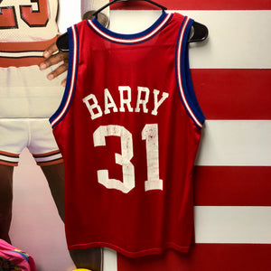 90s Brent Barry Los Angeles Clippers Champion Jersey