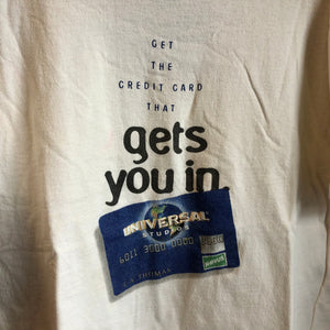 90s Universal Studios Credit Card That Gets You In Shirt