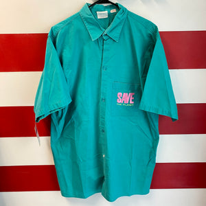 90s Hard Rock Cafe Cancun Save The Planet Button Up Shirt