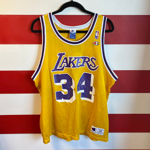 90s Shaquille O'Neal LA Lakers Champion Jersey