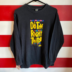 1989 Do The Right Thing A Spike Lee Joint MCA Home Video Original Movie Promo Longsleeve Shirt