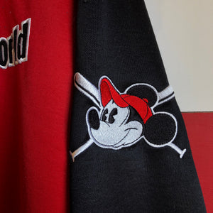 90s Walt Disney World Mickey Baseball Longsleeve Warmup Shirt