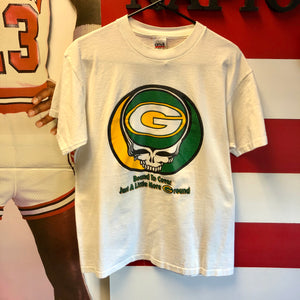 90s Grateful Dead Green Bay Packers 'Bound to Cover Just A Little More Ground' Shirt
