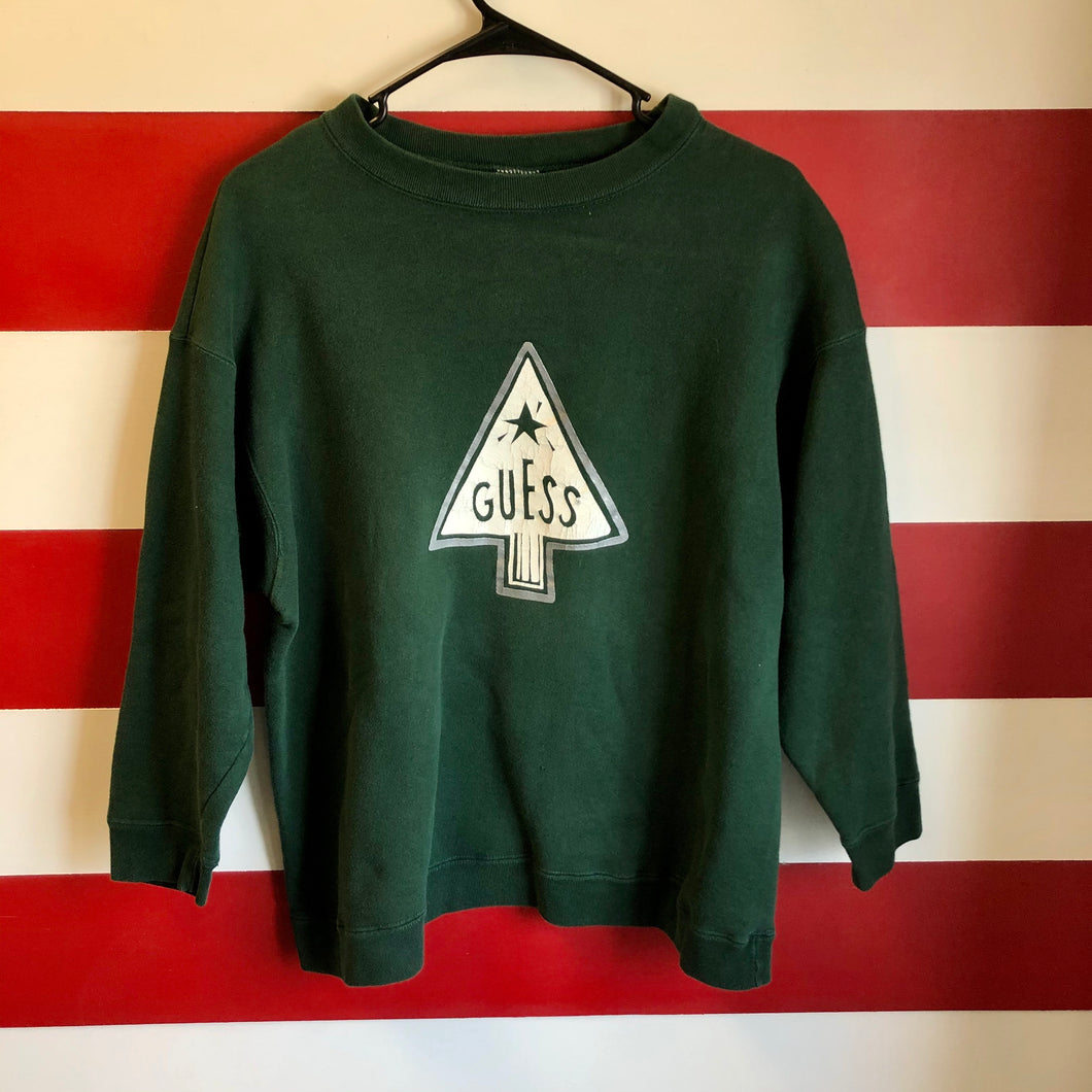 90s Guess Jeans Christmas Tree Sweatshirt
