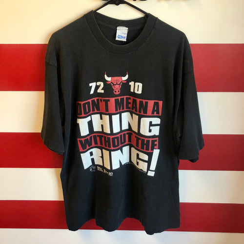 1996 Chicago Bulls 72-10 'Don't Mean A Thing Without The Ring' Salem Sportswear Shirt