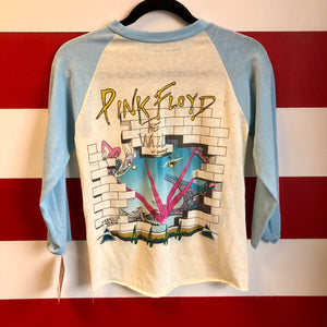 70s Original Pink Floyd The Wall // Dark Side of the Moon In Concert Sold Out Raglan Shirt