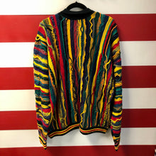 90s Coogi Australia 1/4 Button Cable Knit Collared Sweater