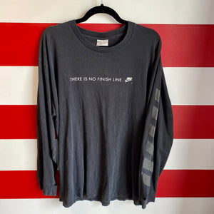 Early 2000s Nike There Is No Finish Line Longsleeve Shirt