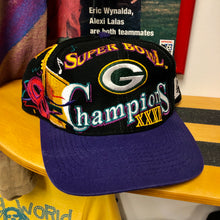 90s Green Bay Packers Super Bowl XXXI Champions Logo Athletic Snapback Hat