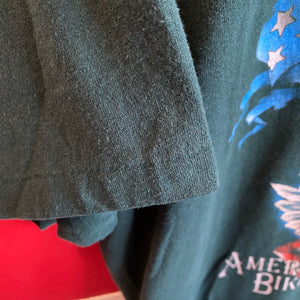 1992 American Biker LA Cycles Eagle 3D Emblem Shirt