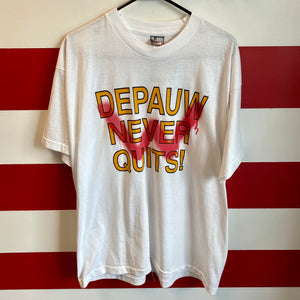 90s Depauw Never Quits Swallowing Wabash Shirt