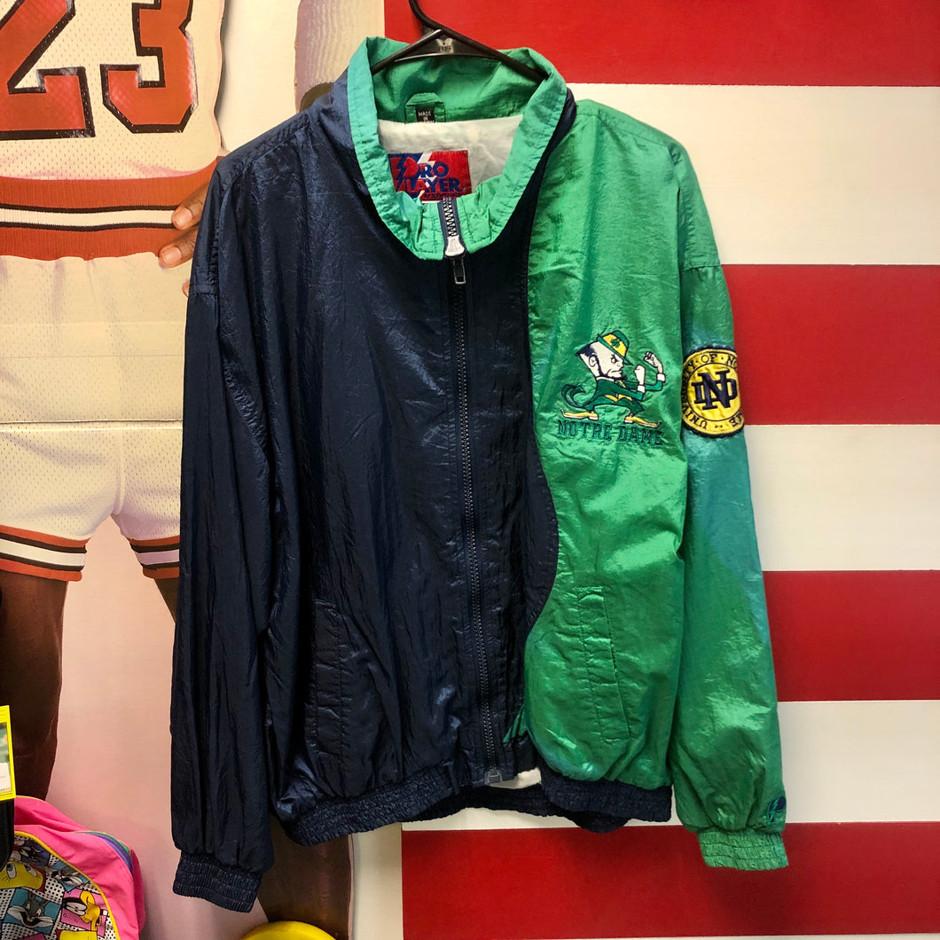 90s University of Notre Dame Pro Player Windbreaker