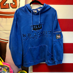 Early 2000s No Limit Soldier Gear Master P 'No Limit University' Sleeve Zip Pocket Hoodie