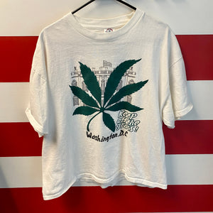 Early 2000s Washington DC Keep Off the Grass Weed Shirt