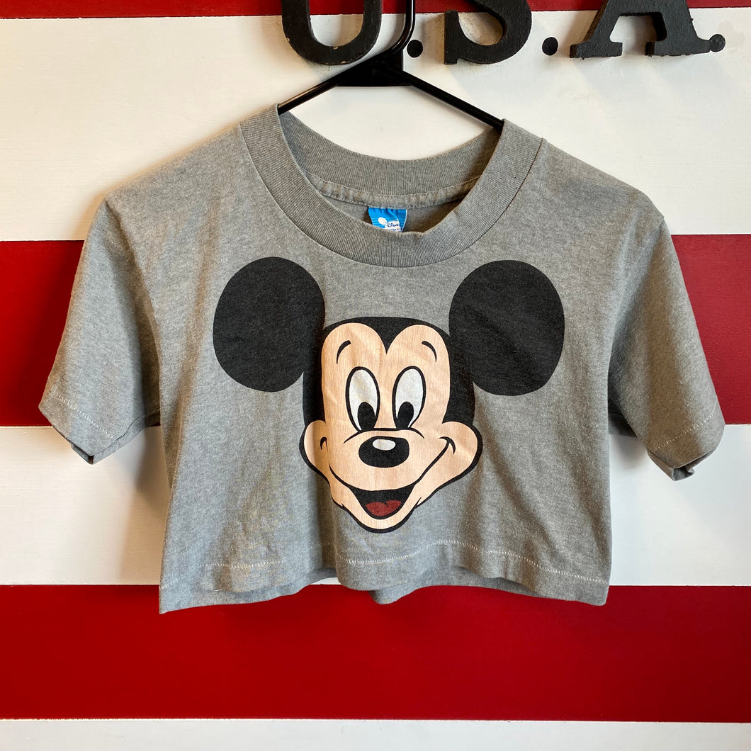 80s Mickey Mouse Disney Crop Shirt