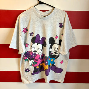 90s Mickey & Minnie Mouse Flowers Shirt