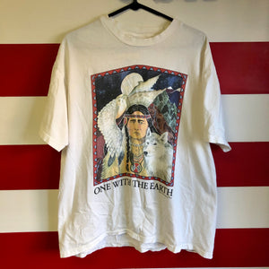 1992 'One With The Earth' Native American Human-I-Tees Brand Shirt