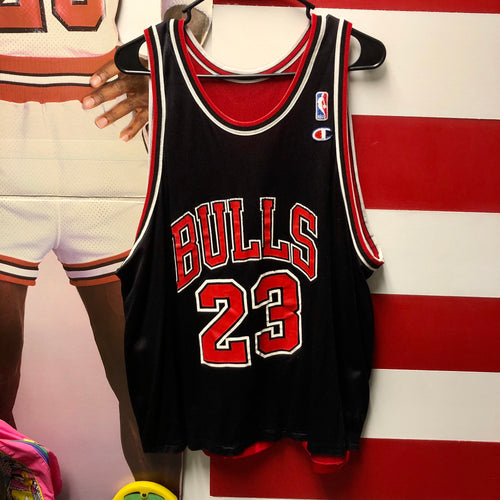 90s Michael Jordan Chicago Bulls Reversible Champion Jersey