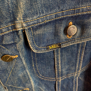60s Lee Riders Sanforized NCHA Patched Denim Jacket