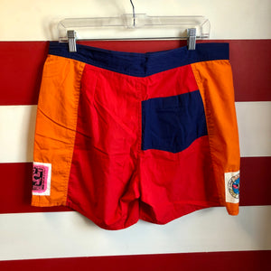 90s Morey Boogie Bodywear Swim Trunks