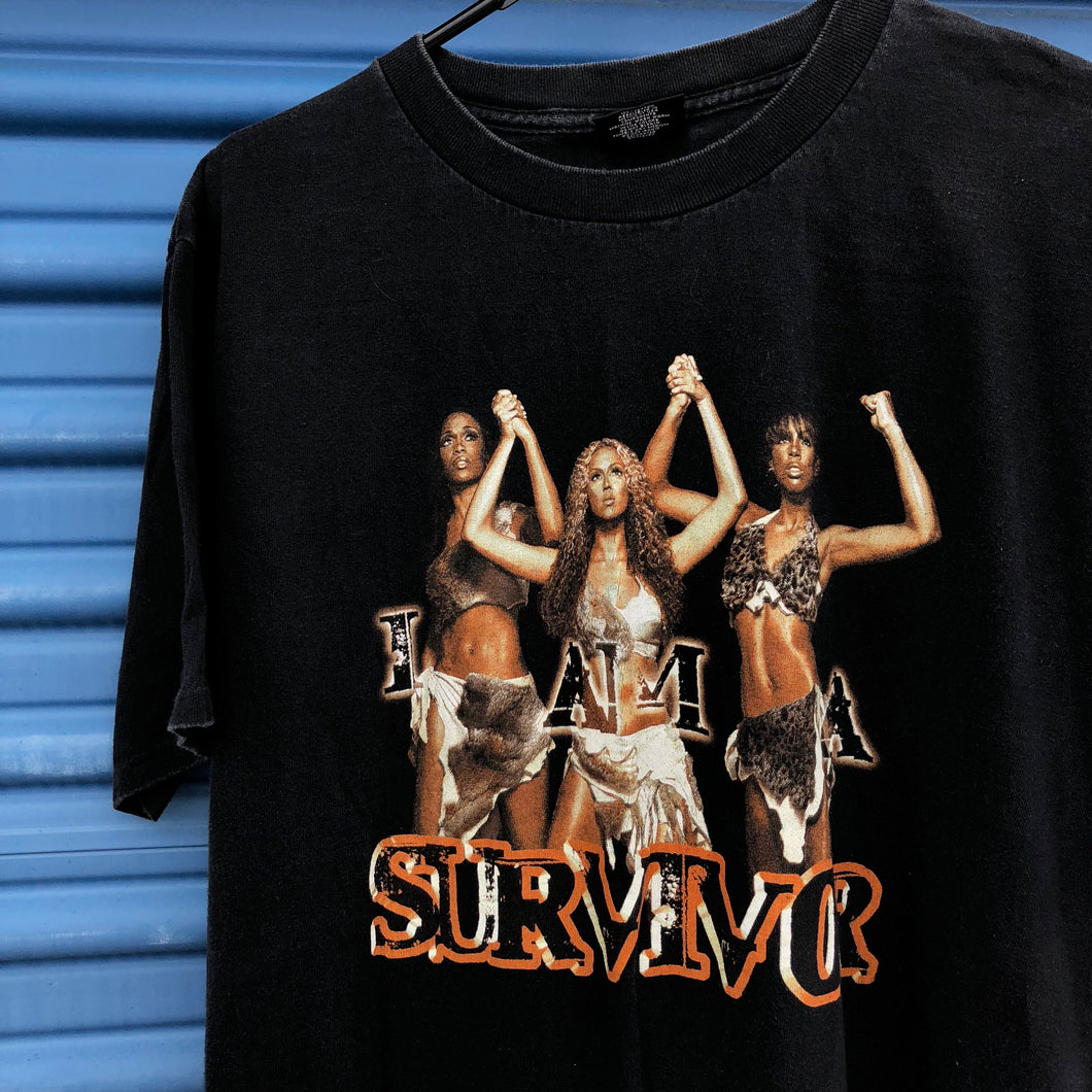 2001 Destinys Child TRL Tour 'I Am A Survivor' Shirt
