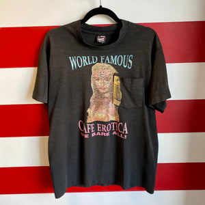 90s World Famous Cafe Erotica 'We Bare All' Shirt