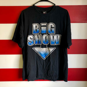 2001 Big Show 'Big All Over' WWF Shirt
