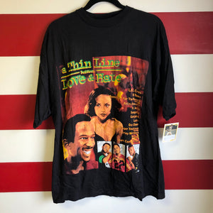 1996 A Thin Line Between Love and Hate // H-Town Bootleg Rap Tee Movie Promo Shirt